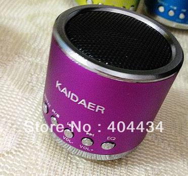 Kaidaer KD-MN01 speaker mini portable speaker support Micro sd  card  7colors DHL free shipping  30pcs/lot