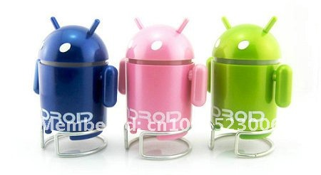Promtion factory!New Arrival Exclusive  Android Robot Portable USB Mini speaker for lpad Tablet PC mid Support TF Card