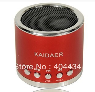 mini portable speaker support TF card  7colors DHL free shipping  KD-MN01 speaker 10pcs/lot
