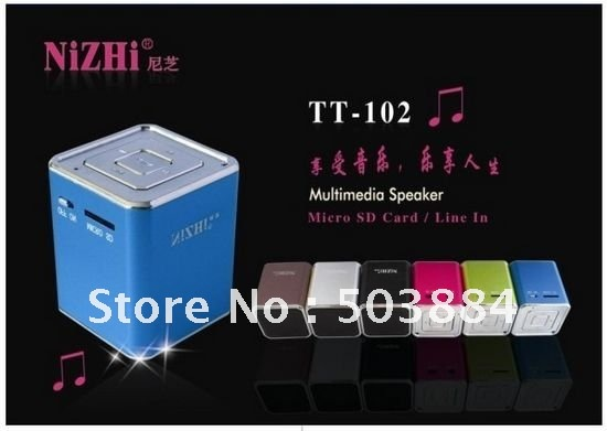 Digital portable Speaker Mini Speaker MP3 Player Micro SD TF Card FM Radio Line In/ Out sound box free shipping