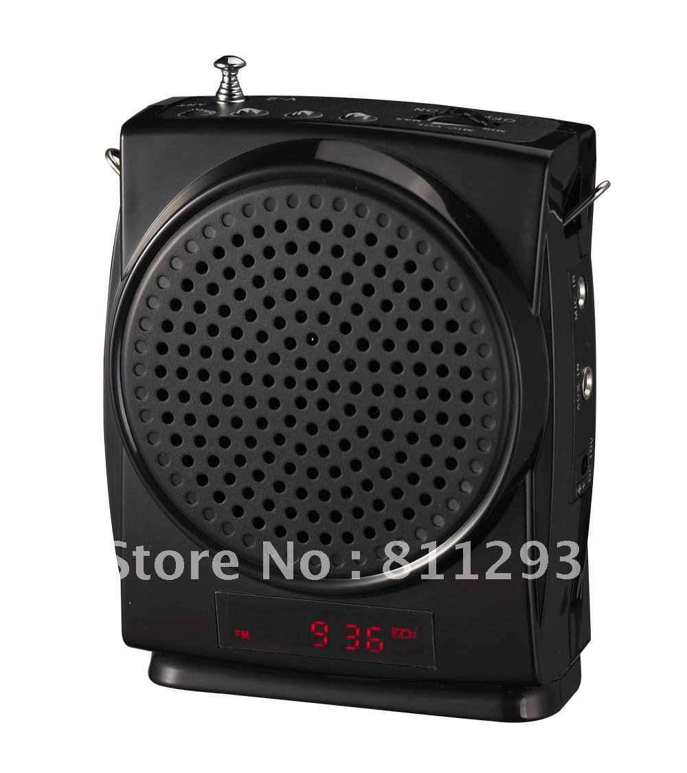 Professional High Quality Portable Voice Amplifier Sound/Audio Amplifier Mini Speaker Microphone With FM Free Shipping(V-3)