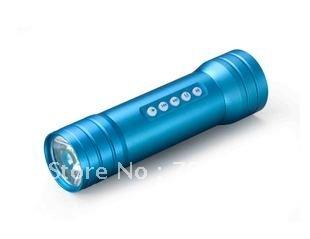 Mobile power Flashlight Portable Speaker + battery indicator + radio + Long Standby + Portable Speaker
