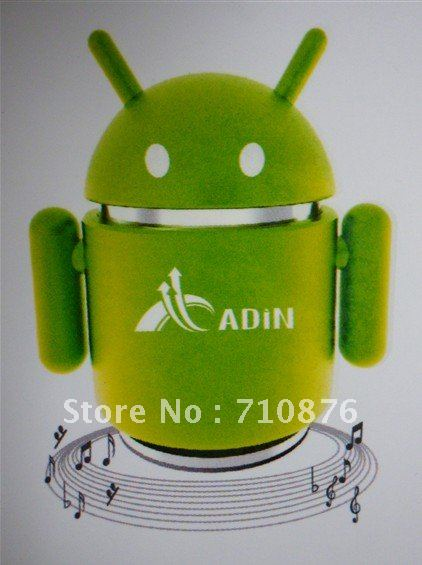 Free shipping !!!Andriod Robot Mini Speaker Mp3 Player Sports PC Speakers Portable USB music player Sound box 5 colors