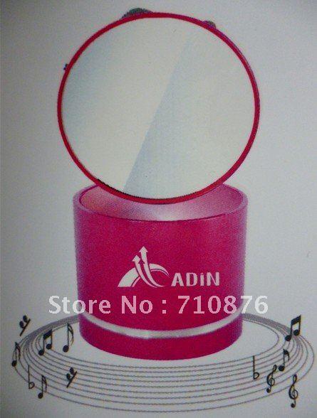 Adin Free shipping mirror Mini Vibration 0 Speaker 360 degree surround HIFI sound with infrared remote control support