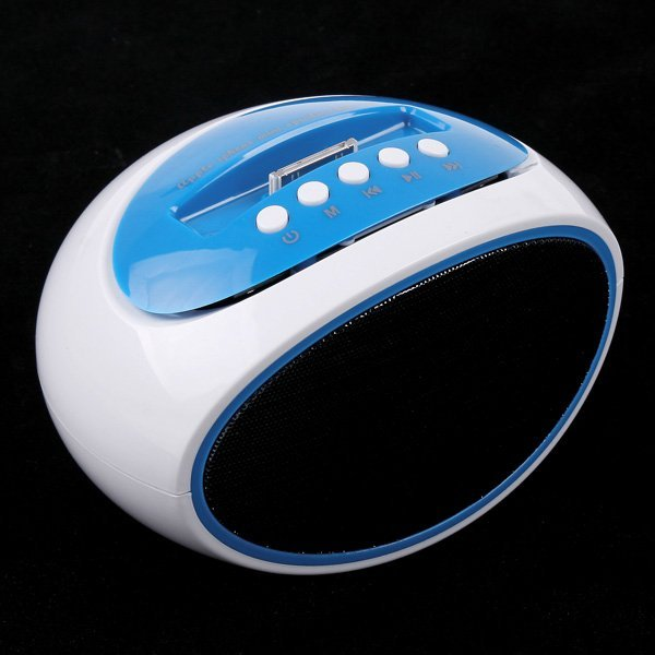Portable Mini Speaker for Apple iPhone 4/4S TF Card USB Disk FM Radio Line Blue Color ems free 10pcs