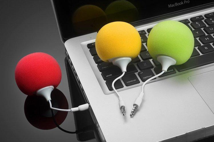 Sponge + ABS Music Balloon Speaker Mini USB Travel Speaker Subwoofer For Mobile Phone Compute Notebook Free Shipping