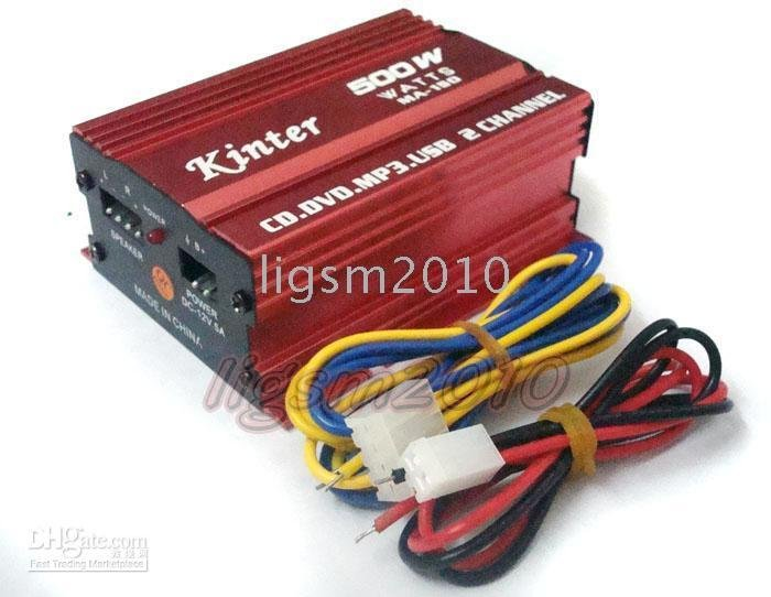 2 Channel CH Stereo Amplifier AMP Car Van Boat 500W /Free Shipping / Made in China Cheap