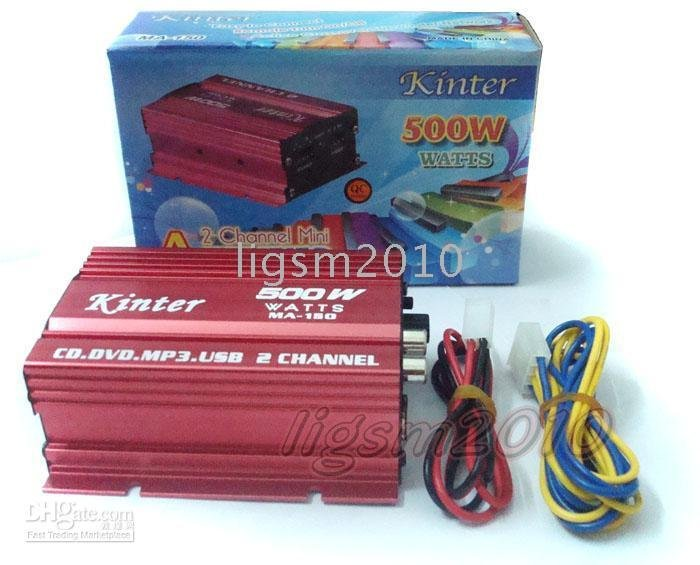 ~ New Red MP3 Stereo Amp Motorcycle Amplifier * / Made in China Cheap
