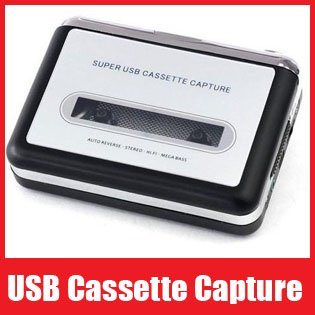 USB Cassette Capture Recorder Radio Player, Tape to PC Super Portable USB Cassette to MP3 Converter, Free Shipping+Retail Box