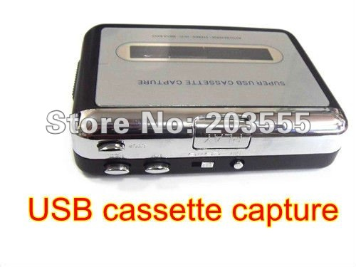 2012 New Arrival Free Shipping Super usb cassette capture,Suppport Cassette to mp3 and tape to CD