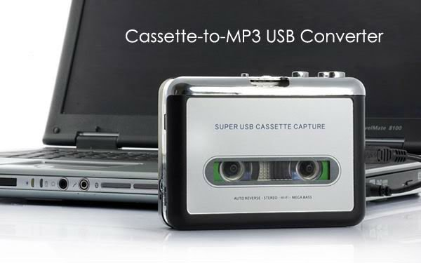 Portable USB Tape Cassette To MP3 Converter Capture Adapter Digital Audio Music Player free shipping