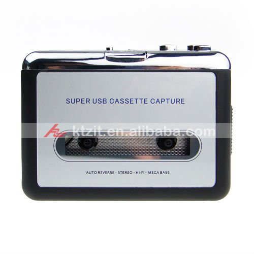 Wholsale USB Cassette Capture-Change The Old Types To MP3 Format,Free Shipping