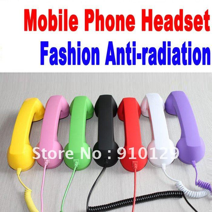 Fashion Anti-radiation Retro Antique Style Mobile Phone Headset 3.5MM for iPhone