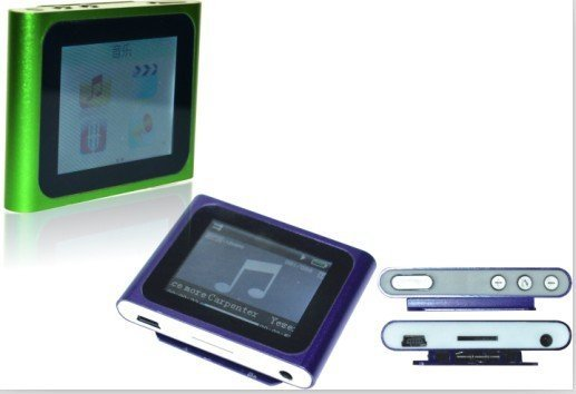 """free shipping shipping 1 set/lot MP4 4GB 6th Generation Clip MP3 Digital MP4 Player, 1.8""""  Screen+cable+headphone+box"""