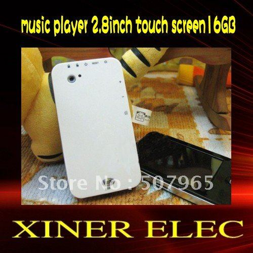 Free shipping !real 16GB mp4 player, 2.8inch screen, MP4 music player with Camera FM radio video