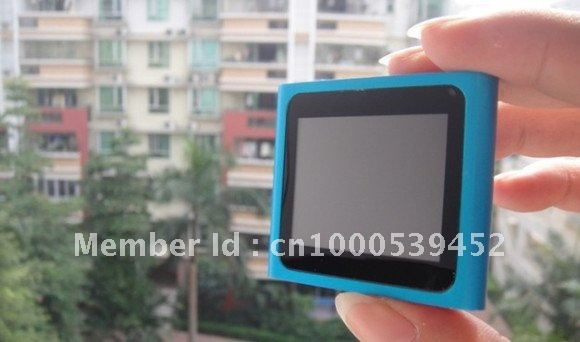Hot tiem 20pcs/lot  6th Gen 8GB 1.8 inch touch screen MP3 MP4 player metal shell with DHL free shipping