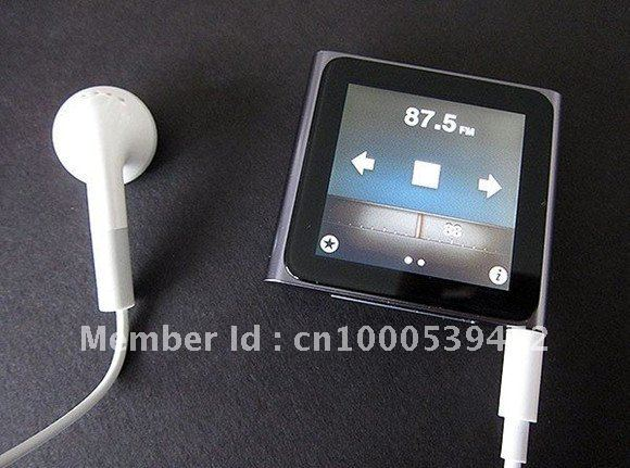 Brand new   Free shipping*200pcs/lot*  6th Gen 16GB 1.8 inch touch screen MP3 MP4 player metal shell   with DHL