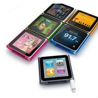 Free shipping 1pcs/lot mp3 mp4 touch screen player 32GB 32G with 1.8inch TFT+music player 6th Small clamps MP4