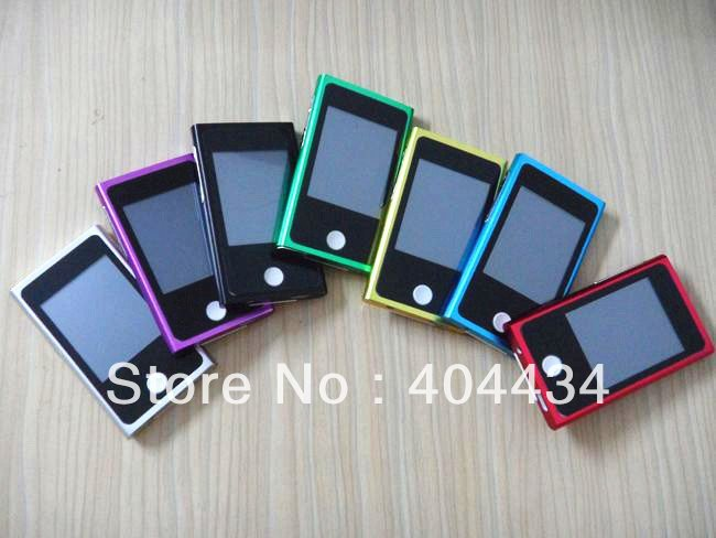 New arrival !  7th mp3 /mp4 player  8GB memory  7gen 2.0''  touch screen 3pcs /lot (only mp3 player )free shipping