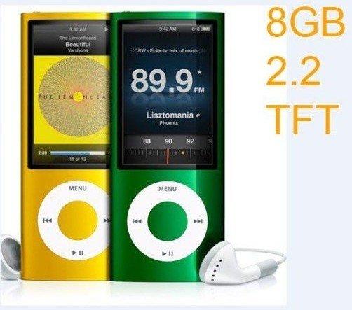 Cheapest 5th 8GB MP3 player 2.2 LCD Camera Scroll Wheel 1.3MP Camera Fashionable Mp3/ MP4 player