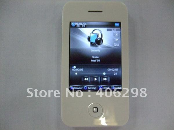 New  Arrival 100pcs  16GB 2.8 inch Touch Screen MP4 1.3MP Camera FM Video+ White/Black colours free DHL shipping
