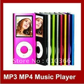 15pcs 4th genetation 8GB mp3 mp4 player 1.8 inch color screen can choose logo as gift EMS Free Shipping