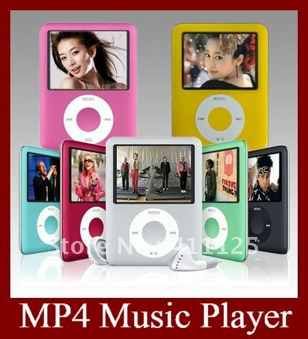 3RD Generation MP3 MP4 Player Real 2GB 1.8 Inch 6 Colors 12pcs EMS Free Shipping To Most Country