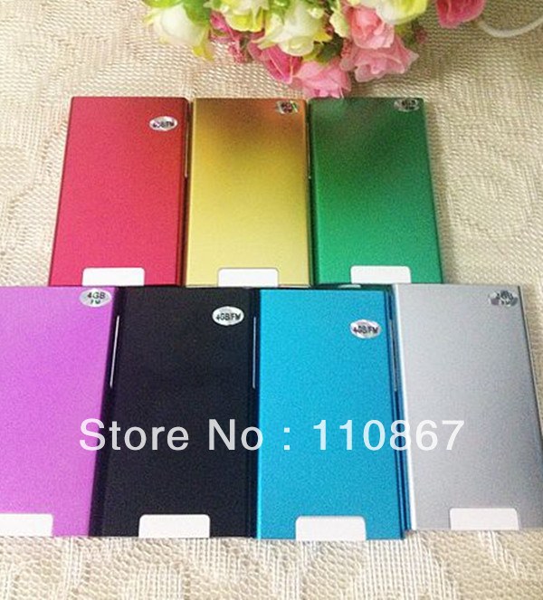 Free shipping portable 20pcs 2.0 inch touch screen 7th Gen mp4 player 8GB muliti-function no accessories and no package box