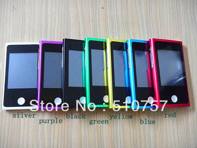 touch screen!2.0''7th  16GB mp3 mp4 player,in store,100pcs/lot free shipping!FULL SET with all accessaries.