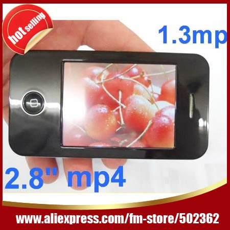 Wholesale Free shipping touch MP4 player 16gb mp3 touch screen 2.8 LCD DV Camera FM radio video Game Ebook Hot selling