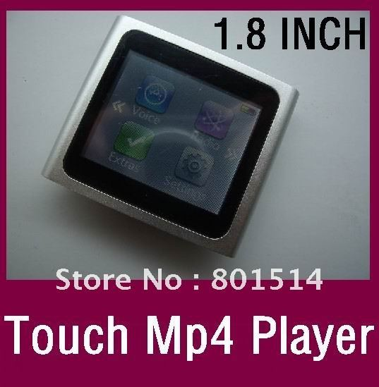 "Free DHL 30pcs/lot new Clip 6TH Gen 16GB  MP4 Player 1.8"" Touch Screen FM Radio 7colors for iPod nano"