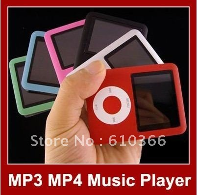 2pcs 3rd gene MP3 MP4 player 1.8 inch color screen 8GB have variety function mutil colors can choose logo HK Post Free Shipping