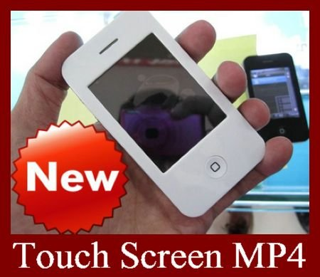 EMS 10pcs 2.8 Inch Digital Touch Screen MP4 MP5 Player Real 4GB With Camera Multimedia Player High Quality For Wholdsale