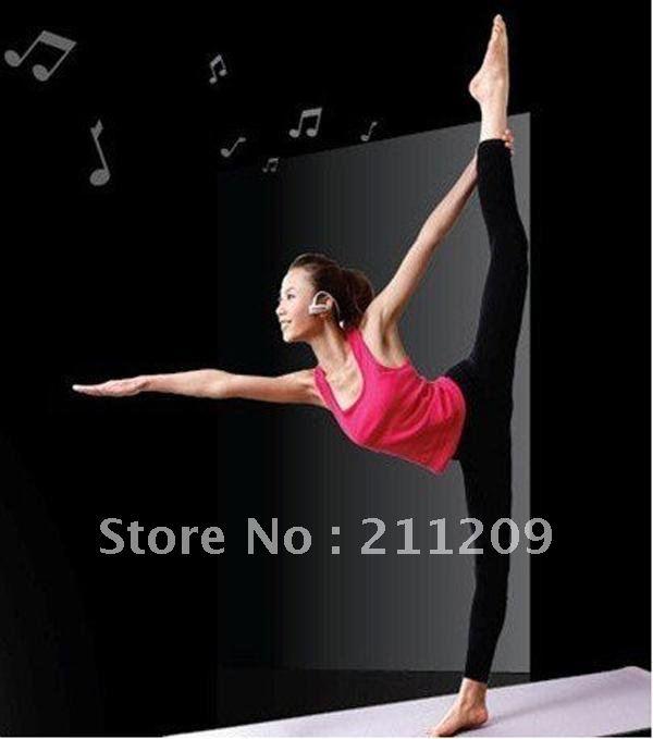 China post freeship High quality 5pcs  4GB W202 hang ear type MP3 music player mini mp3 player music player