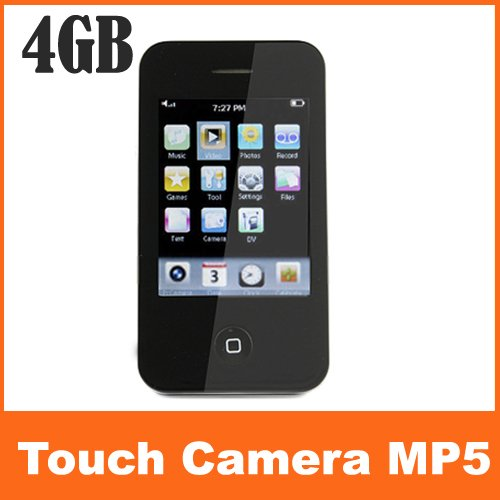 New 2.8 inch HD Touch Screen 4GB  Music Mp3 MP4 MP5 Player With 1.3M Camera FM TF Card Function Free Shipping