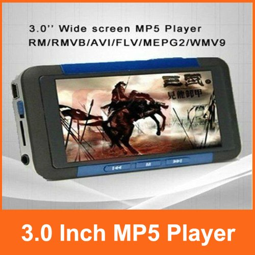 New 3.0 inch QVGA Screen Mp3 Mp4 MP5 Player With TV Out 3 Colors Optional Free Shipping
