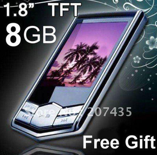 "5pcs/lot,Cheapest and good quality, 8GB MP3 MP4 Player Slim 1.8""LCD FM Radio FM Radio mp4 player +Free Shipping"