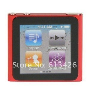 Free shipping 6th Gen 1.8 inch Touch Screen 8GB MP4 Player with Video + Recorder + E-Book + FM + Games 10pcs