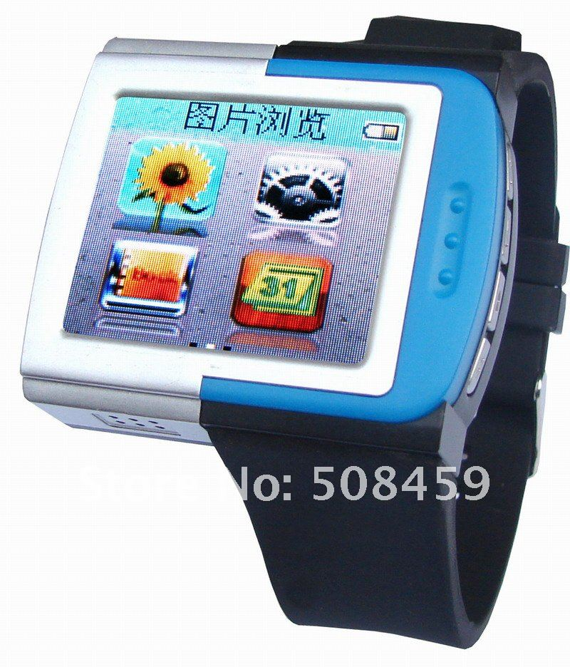 "MP4 Player watch 1.8"" Touch Screen FM Radio 4GB ebook watch mp4 player + Free shipping"