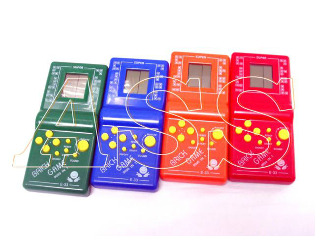 ASS244  E-33 Small Classic Tetris game / handheld game with retail box +Free shipping