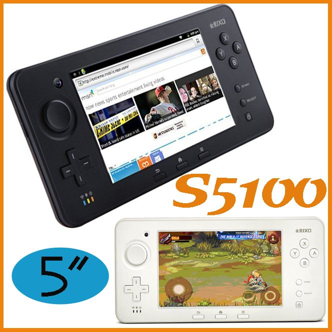"""HOT Selling JXD S5100 Game Player 5"""" Capacitive Android 4.0 Cortex A9 WiFi Game Console 4G"""