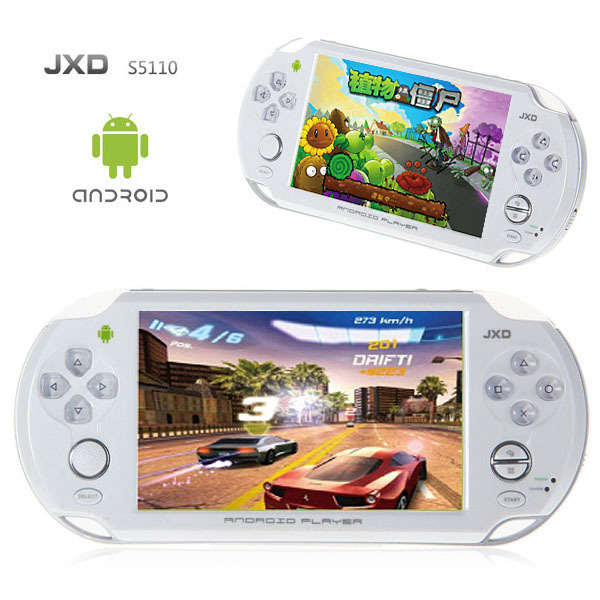 """Hot Free Shipping JXD S5110 5"""" Android 4.0 Cortex A9 1GHz CPU 512M DDR3 4G OTG HDMI Capacity Touch Screen Game Console TV Output"""