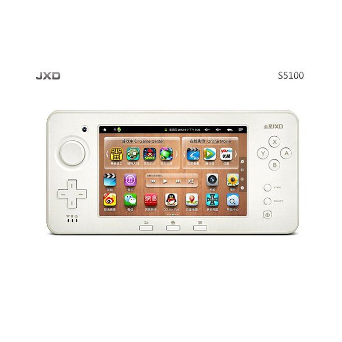 JXD S5100 5.0 Inch Game Console Capacitive Screen ARM Cortex A9 Android OS Cloud Services HDMI 4GB