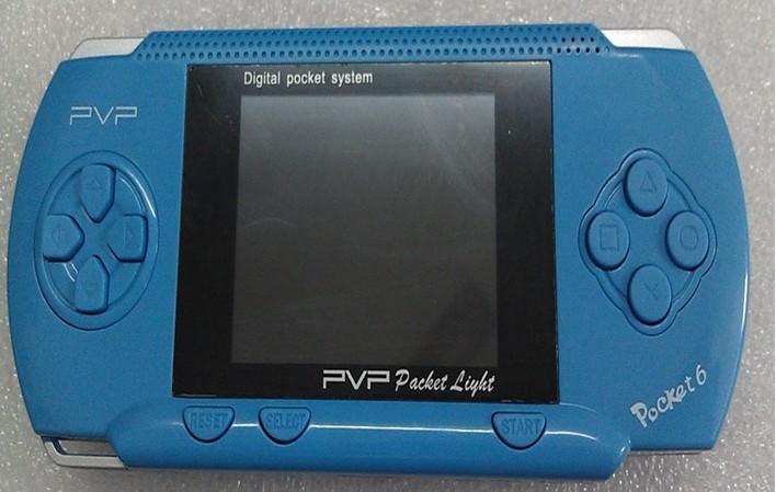 Free Shipping 2.7 inch PVP pocket 6 8bit Handheld Video Game Machine + Free Game card 30PCS