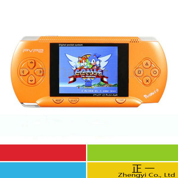 Free Shipping DHL 5PCS PVP 2 pocket 9 PVP station 16-bit video games player handheld game console+Free Game card
