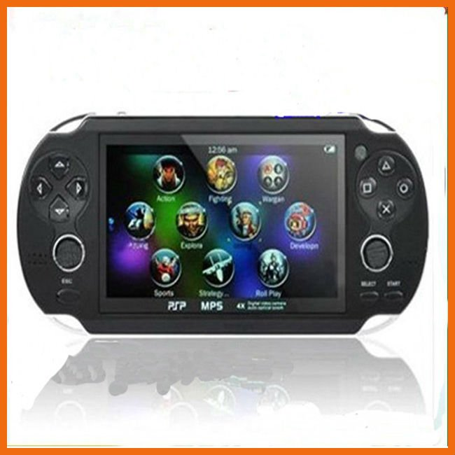 "free shipping DHL 5PCS 4.3"" 4GB Handheld Game mp5 Player mp4 Player With Dual Joystick Camera FM TV-Out Portable Game Console"