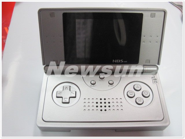 white 2.7 inch NBS pocket handheld game player/game consoles (8bit) +TV-out function+thousands of good games built in