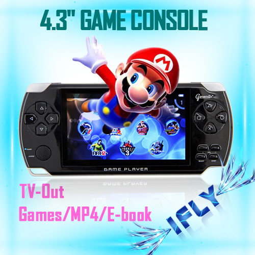 """Christmas gift 4.3"""" TFT MP3/ MP4/Handheld Video Game Console with1000 classic games"""