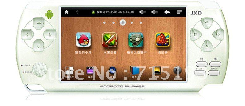 free shipping game player JXD S601 android 2.3 4.3 inch Resistive Touch Screen 512MG 4GB HDMI 1GHz wifi G sensor camera