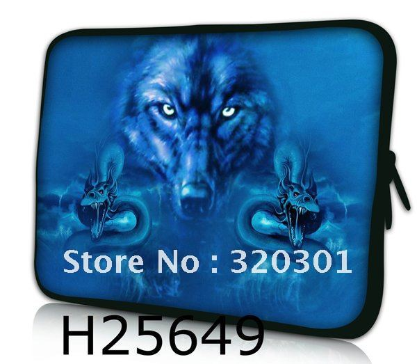 """11.6"""" 12"""" Cool Wolf Laptop Netbook Soft Neoprene Sleeve Case Bag Cover Pouch US"""